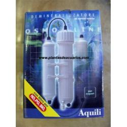 Ósmosis inversa 50 gpd, 3 etapas +filtro NO3 PO4 SiO2.AQUILI